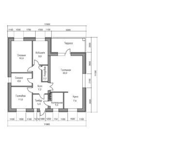 планировка дома из газобетона